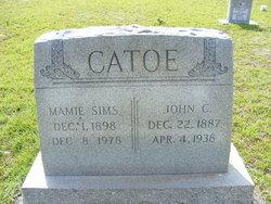 Mamie <i>Sims</i> Catoe