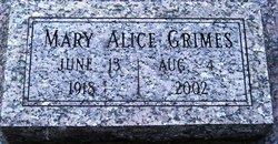 Mary Alice <i>Treece</i> Grimes