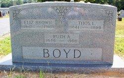 Eliz. <i>Brown</i> Boyd