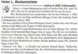 Helen L <i>Crane</i> Biedenmeister