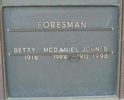 Betty L <i>McDaniel</i> Foresman