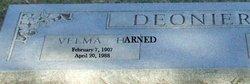 Velma Beatrice <i>Harned</i> Deonier