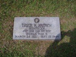 PFC Leslie Raymond Brown