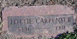 Charlotte Lottie <i>Pridemore</i> Carpenter