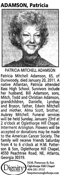 Patricia Mitchell Pat Adamson