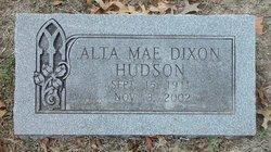 Alta Mae <i>Dixon</i> Hudson