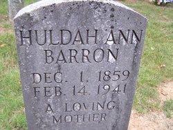 Huldah Ann <i>Hunter</i> Barrons
