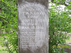 Anna J. <i>Alley</i> Davis