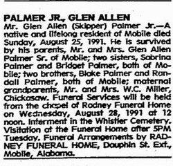 Glen Allen Skipper Palmer, Jr