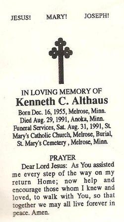 Kenneth C Kenny Althaus