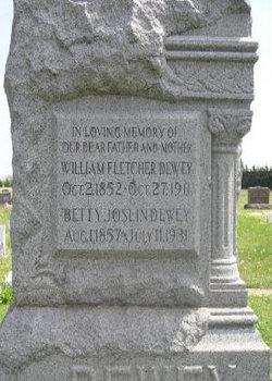 Mary Elizabeth Bettie <i>Joslin</i> Dewey