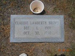 Claudie <i>Lamberth</i> Brown
