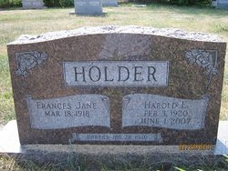 Frances Jane <i>Younger</i> Holder
