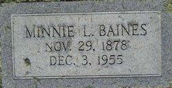 Minnie Lieth <i>Butler</i> Baines