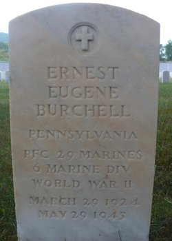 PFC Ernest Eugene Burchell