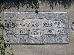 Mary Ann <i>Morgan</i> Dean