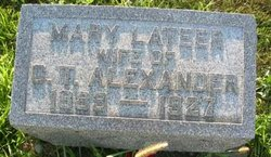 Mary <i>Lateer</i> Alexander