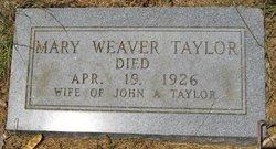 Mary <i>Weaver</i> Taylor
