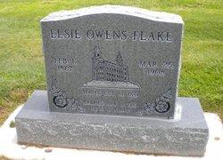 Elsie Abigail <i>Owens</i> Flake
