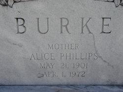 Alice <i>Phillips</i> Burke