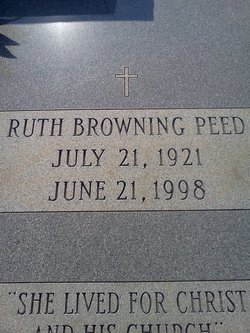 Maggie Ruth <i>Browning</i> Peed
