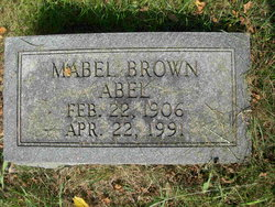 Mabel Mollie <i>Brown</i> Abel