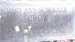 Mary Ann <i>Schooler</i> Crow