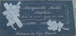 Marguerite Mable Margie <i>Ishmael</i> Burton