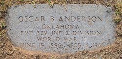 Pvt Oscar B. Anderson
