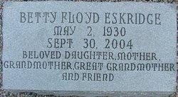 Betty <i>Floyd</i> Eskridge