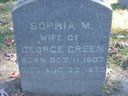Sophia M <i>Hanley</i> Green