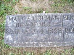 Mary Eliza <i>Coleman</i> Bradford