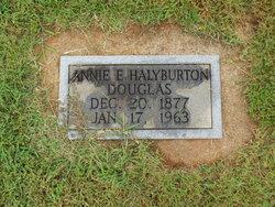 Annie E. <i>Halyburton</i> Douglas