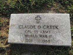 Claude D Creek