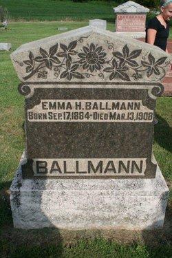 Emma Henrietta <i>Wichmann</i> Ballman