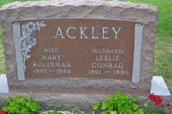 Mrs Mary A. <i>Rolixman</i> Ackley