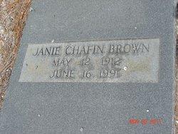 Janie <i>Chafin</i> Brown
