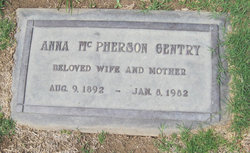 Anna <i>McPherson</i> Gentry