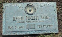 Mattie <i>Puckett</i> Akin