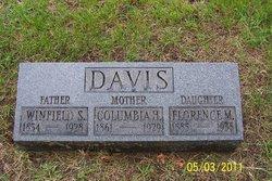 Columbia H <i>Hill</i> Davis