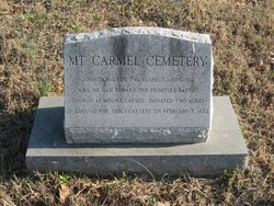 Mount Carmel Primitive Baptist Church Cemetery