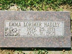 Emma <i>Lorimer</i> Hadley