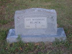 Ann <i>Woodring</i> Black