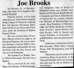 Joe Ernest Brooks