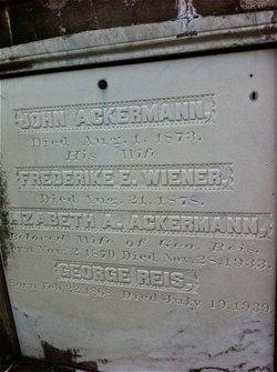 Frederike E. <i>Wiener</i> Ackermann