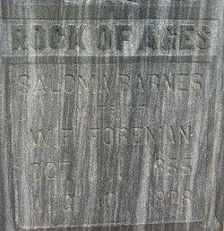 Mary Salome <i>Barnes</i> Cornelius