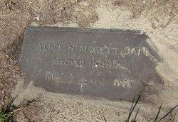 Alice N McGettigan