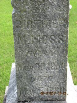 Mahuldah Bertha <i>Hensley</i> Moss