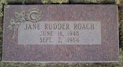 Jane <i>Rudder</i> Roach