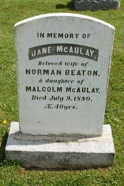 Jane <i>MacAulay</i> Beaton